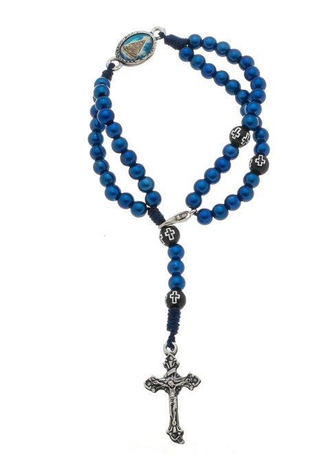 Terço de pulso Nossa Senhora Aparecida - Azul Marinho 3un