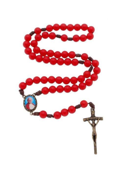 Terço de São João Paulo II - vermelho