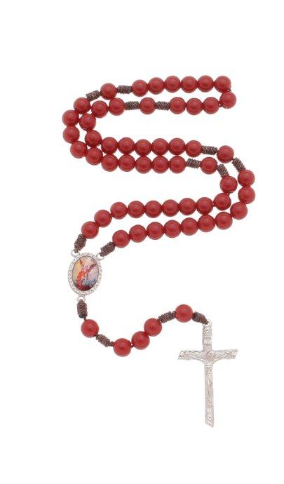 Terço de São Miguel Arcanjo - vermelho