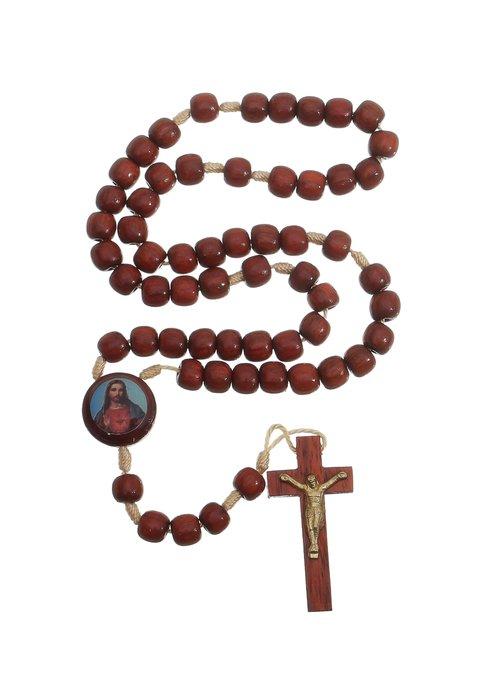 Terço Sagrado Coração de Jesus e Maria - 8mm