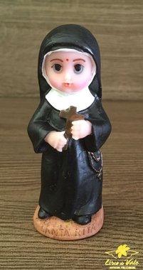 Imagem Santa Rita de Cassia infantil em resina - 8cm