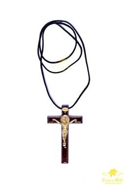 Cordão com cruz de São Bento - 7,5cm