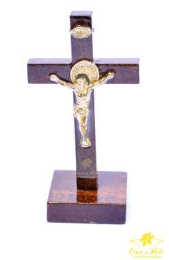 Crucifixo de mesa de São Bento - 8,5cm