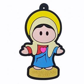 Chaveiro emborrachado Sagrado Coração de Maria - 06 UN