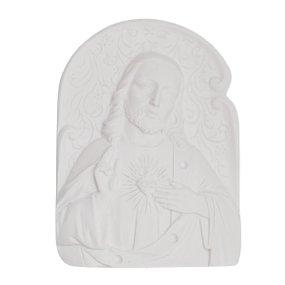 Aplique Sagrado Coração de Jesus em resina 9x65 cm