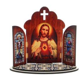 Capela Sagrado Coração de Jesus em MDF - 12cm