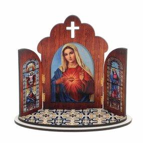 Capela Sagrado Coração de Maria em MDF - 12cm