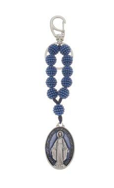 Chaveiro de Nossa Senhora das Graças craquelado com mosquete
