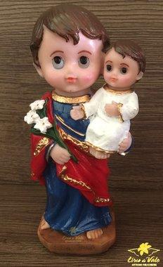 Imagem São José infantil em resina - 14,5cm