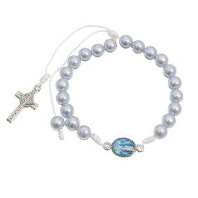Dezena de pulso Nossa Senhora das Graças pérola - Azul claro