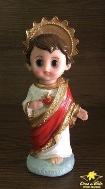 Imagem Sagrado Coração de Jesus infantil em resina - 14cm