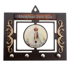 Porta chave Nossa Senhora de Fátima vazado