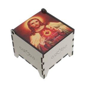Porta terço MDF Sagrado Coração de Jesus