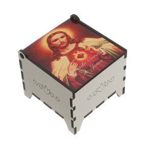 Porta terço Sagrado Coração de Jesus - Porta joia