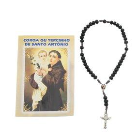 TERÇO COM FOLHETO DE SANTO ANTÔNIO 6UNID - UN. R$3,49