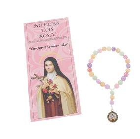 Terço com folheto infantil - Santa Teresinha do Menino Jesus