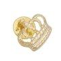 Boton Coroa - Dourado 03 UN