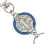 Chaveiro Medalha de São Bento com mosquete - Prata