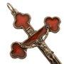 Crucifixo de metal - Vermelho 10cm