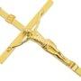Crucifixo de parede - Dourado  21cm