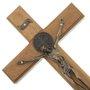 Crucifixo de parede São Bento - 20cm