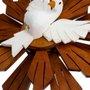 Divino Espírito Santo em madeira com Divino Branco - 44,5cm