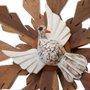 Resplendor Divino Espírito Santo em madeira cedro - 30cm
