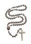 Terço de Padre Pio pérola - Chumbo 8mm