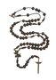 Terço de pescoço de São Miguel Arcanjo em madeira