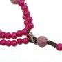 Terço de pulso Anjo da Guarda - Rosa Pink 3 un